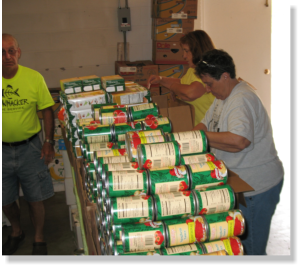 food bank workers
